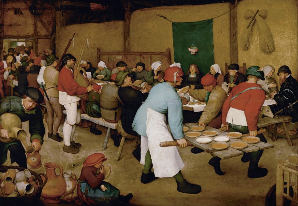 'De Boerenbruiloft' van Pieter Breugel de Oude (1568)