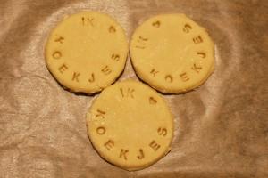 Kookanje - koekjes gestempeld